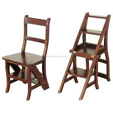 wood folding step stools wooden stool chair ladder solid library australia