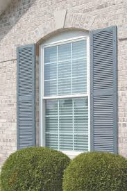 Mid America Shutters Color Chart Mid America Cathedral Top Open Louver Master Vinyl Shutters W Center Mullion Pair