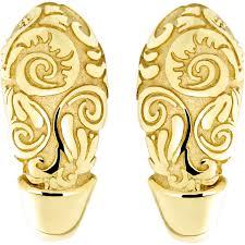Серьги <b>коллекции Totem</b> Fox/Лиса из жёлтого золота, цветы (без ...