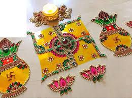 Kundan Rangoli Designs Small Buy Gifting Glam 4 D New Age Beautiful Kalash And Swastik