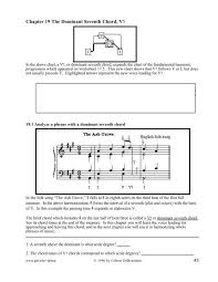 Dominant Seventh Chord Chart 19 The Dominant Seventh Chord G Major Music Theory