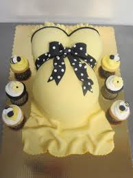 Pregnant Belly Cake With Footprint Pregnant Belly Cakes