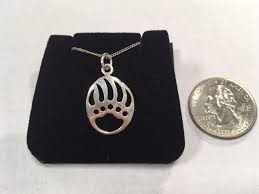 silver bear paw pendant