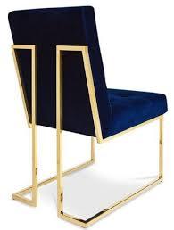 Casa Padrino Luxus Chesterfield Samt Esszimmerstuhl Dunkelblau Gold 48 X 675 X H 90 Cm Esszimmermöbel