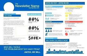1 Page Newsletter Template Merrier Info