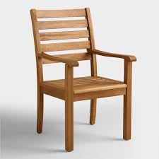 outdoor arm chair. Wood Praiano Outdoor Dining Armchair Arm Chair