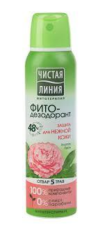 Фито-<b>дезодорант Чистая Линия Защита</b> для нежной кожи Пион и ...