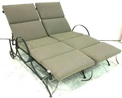 patio double chaise lounge lot patio double chaise lounge w cushions outdoor double patio chaise lounge
