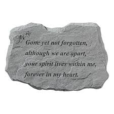 Gone But Not Forgotten Quotes Amazon Stepping Stone Gone yet not forgotten Outdoor 52