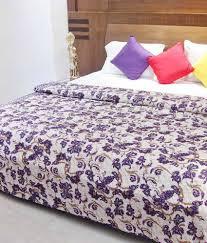 aurave purple cotton duvet cover double 90 x 108