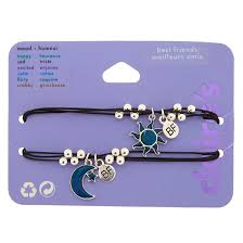 Mood Sun Moon Friendship Bracelets 2 Pack