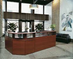 office reception designs. Wooden Reception Desk Design With Metal Overhead Lighting For Charming Medical Office Designs