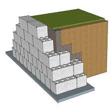 gravity concrete block retaining wall