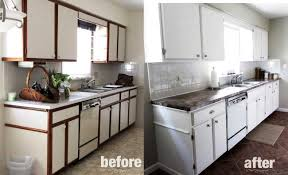 painting laminate cabinets before and after how to paint kitchen