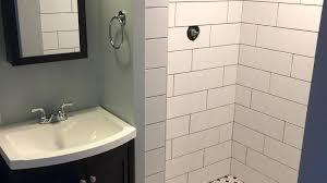 tile on drywall basement bathroom remodel tile drywall outside corner tile on drywall