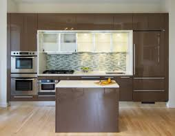 black ways space wasting kitchen cabinet soffits dark molding top cabinets high gloss slab doors white