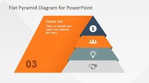 4 Levels Flat Pyramid Diagram Template For Powerpoint Slidemodel