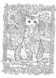 Small Picture Zentangle Cat face Adult coloring page Digital pdf YepArt