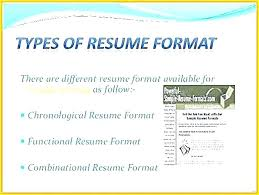 Different Resume Formats Interesting Example Of 28 Types Of Resume With 28 Types Of Resume Formats