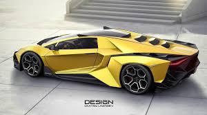 Lamborghini Forsennato Hypercar Rendering  O