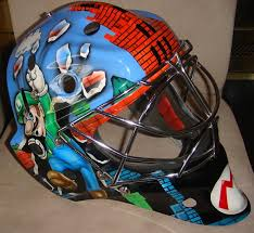 super mario goalie mask right side