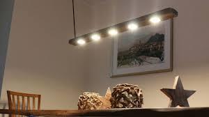 Designer Esstischlampe Aus Treibholz Mit Akzentbeleuchtung Youtube