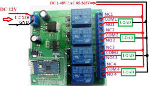 12v 4ch bluetooth relay android mobile remote control switch for ce028 13