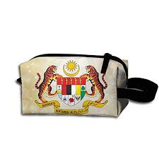 coat of arms of msia pencil case cine bag toiletry bag toiletry pouch makeup organizer clutch