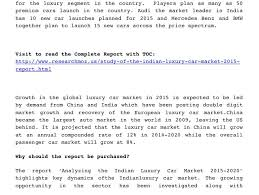 new car launches planned in indiaStudy of the Indian Luxury Car Market Study Insight Research Tren