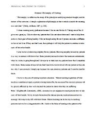 personal philosophy essays personal leadership philosophy personal  personal philosophy of nursing example paperspersonal nursing philosophy