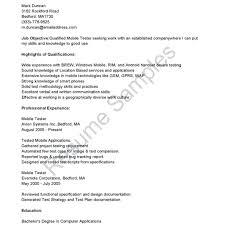 Qa Resume Sample Entry Level Platformeco