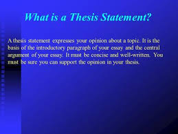 thesis statement taking a stand ppt video online what is a thesis statement