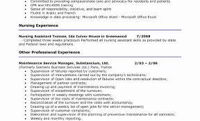 Cna Resume Examples Cna Resume Templates New Cna Resume Samples Templates 75