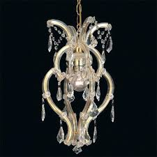 astounding small maria one light chandelier with crystals chandeliers light bulbs