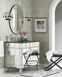ideas mirrored furniture. Wonderful Mirrored A Shining Mirrored Sink With A Matching Mirror And Crystal Lighting Above Inside Ideas Mirrored Furniture
