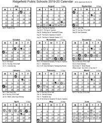 Ridgefield Public Schools Calendars For 2019 20 And 2020 21