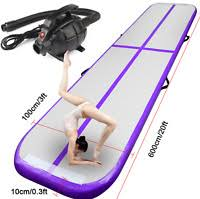 <b>KUOKEL 4M Inflatable Gymnastic</b> Training Mat Air Track Floor ...