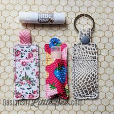Lip Balm Holder Embroidery Design A Simple Slice Lip Balm Holder Snap Tab Eyelet Ribbon Key Fob Set 03 16 2018