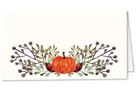 Fall Place Cards Koko Paper Co Thanksgiving Place Cards With Pumpkin And Fall Leaves Pack Of 50 Tent Style Cards For Thanksgiving Bridal Showers Dinner Parties