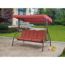 beautiful outdoor 3 person swing canopy hammock seat patio deck furniture for beautiful outdoor swing cushions