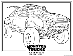 Monster Truck Coloring Pages Monster Trucks Printable Coloring Pages