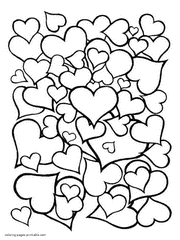 Small Picture Coloring Page Hearts Coloring Pages Coloring Page and Coloring