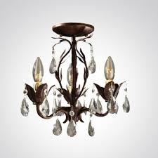 large crystal drops antique bronze rustic leaf chandelier ceiling light