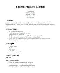 Bartending Resume Template Stunning Server Objective Resume Resume For Server Position Resume Objectives