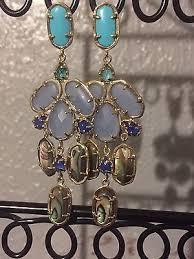 kendra scott kyra earrings in fiji rare htf