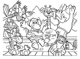 Animal Coloring For Kindergarten Zoo Animals Coloring Pages For