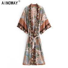 top 10 women vintage <b>boho kimono</b> list and get free shipping - a156