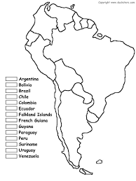 South America Coloring Map Of Countries Cc Cycle 1 Geography