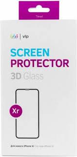 <b>Защитное стекло VLP 3D</b> для iPhone Xr (чёрная рамка ...
