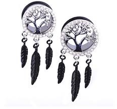 Dream Catcher Tunnels 100 fashion 100pcs dream catcher ear piercings tunnel plugs body 30